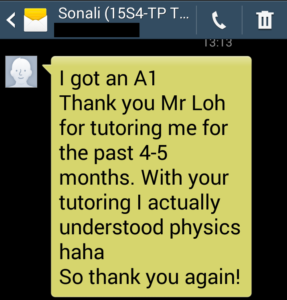 O Level Physics Tuition (LearningForKeeps) Sonali