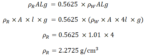 Final calculation and equations for density