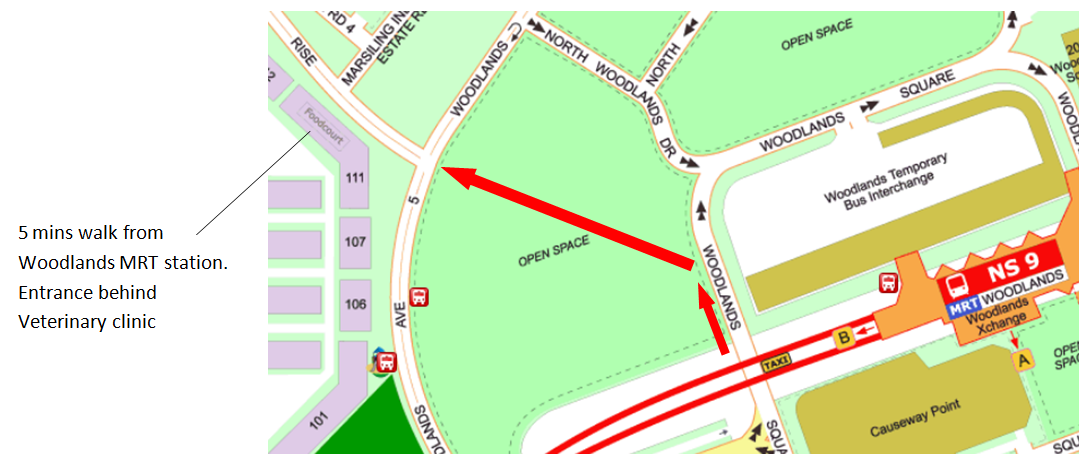 Physics Tuition Woodlands detail map