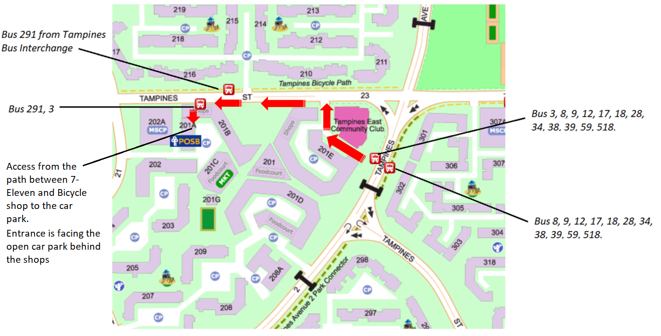Physics Tuition Tampines Map