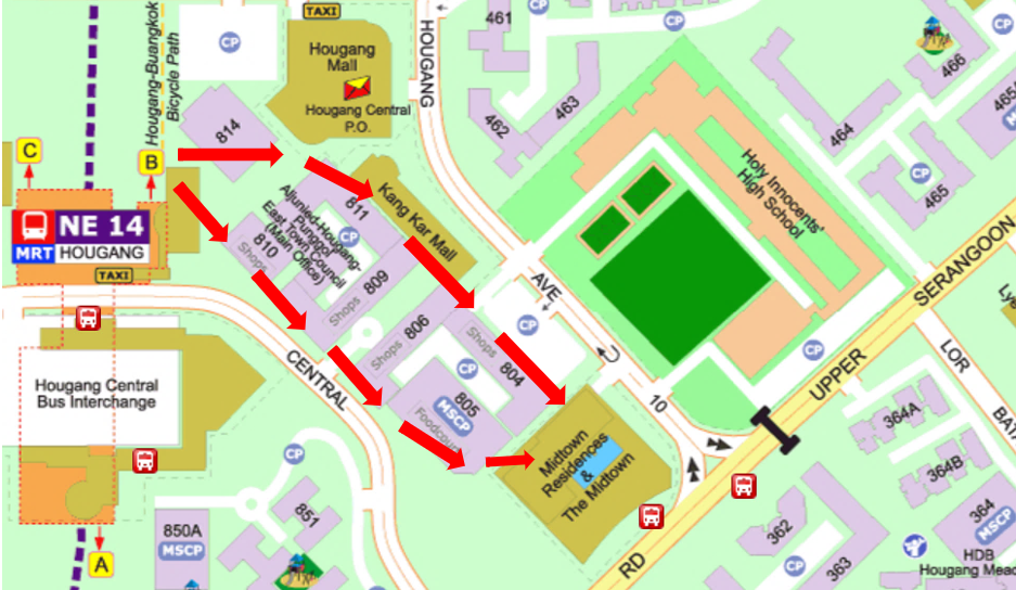Physics Tuition Hougang Map