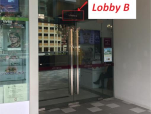 The Midtown Lobby B Entrance